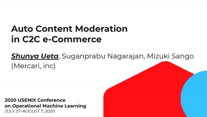 Auto Content Moderation in C2C e-Commerce