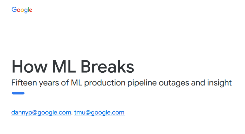 Google ML Breaks